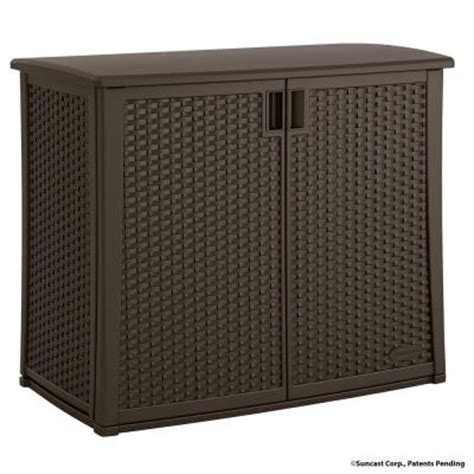 patio storage cabinet home depot suncast 97 gal resin outdoor patio cabinet bmoc4100 the