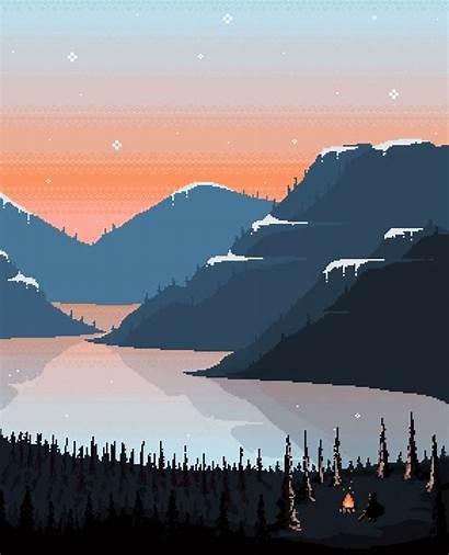 Pixel Vaporwave Wallpapers Aesthetic Paisagem Desenho Landscape