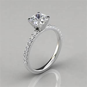 french cut cushion cut engagement ring puregemsjewels With wedding band with cut out for engagement ring
