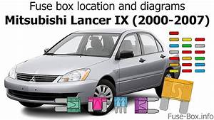 Fuse Box Location And Diagrams  Mitsubishi Lancer Ix  2000