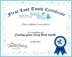 First Tooth Fairy Certificate Printable