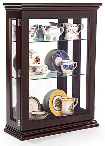 locking curio cabinet affordable espresso curio cabinet 4 adjustable glass shelves 3835