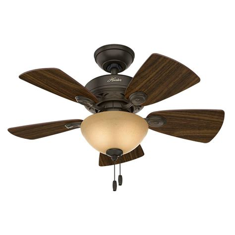 cing light and fan hunter watson 34 in indoor new bronze ceiling fan with