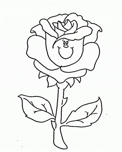 contoh sketsa gambar bunga sederhana gambar pedia