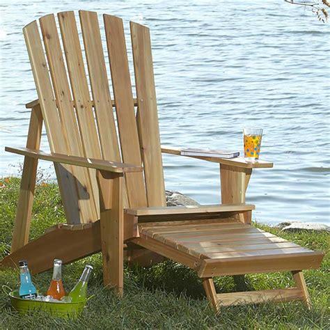 adirondack chair  footrest woodworking plan  wood magazine