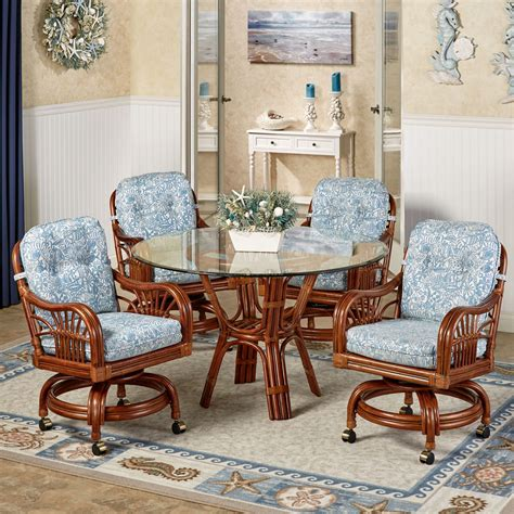 dining table with rolling chairs kitchen table sets with rolling chairs gallery including
