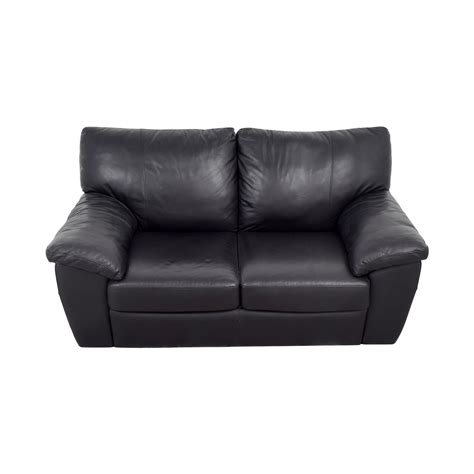 Sofa Ikea Leder by 81 Ikea Ikea Black Leather Two Cushion Sofas