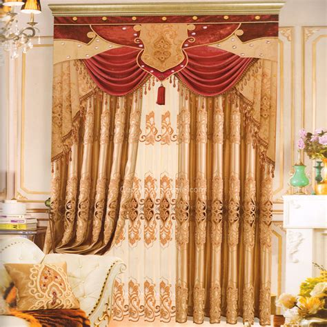 vintage chenille gold patterned  homes curtains