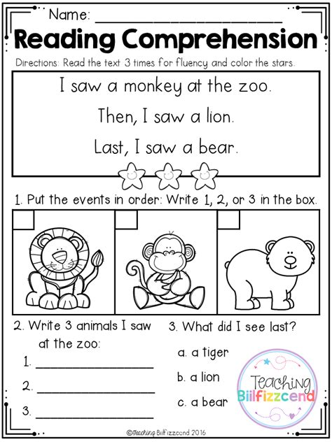 Free Sequencing Reading Comprehension For Beginning Readers Set 3  Future Classroom Ideas