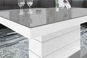 Tisch Weiß Hochglanz Ausziehbar : design couchtisch h 333 grau wei hochglanz h henverstellbar ausziehbar tisch hochglanzm bel ~ Buech-reservation.com Haus und Dekorationen
