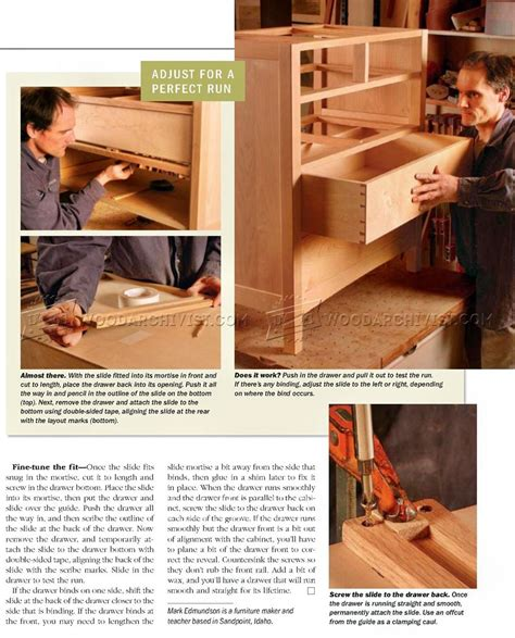 making drawer center guide woodarchivist