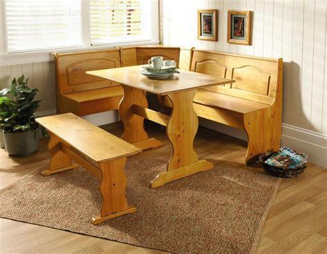 kitchen nook sets with storage essential home 3 emily breakfast nook in pine 8359