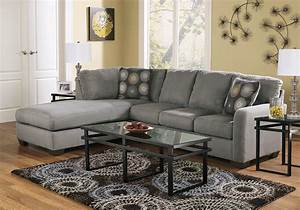 Zella charcoal 2pc laf chaise sectional evansville for Zella sectional sofa chaise