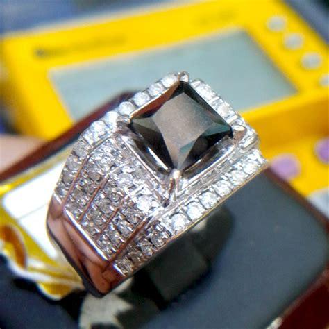 jual cincin pria berlian hitam black 0276 ring emas berlian cincin dan batu batu permata