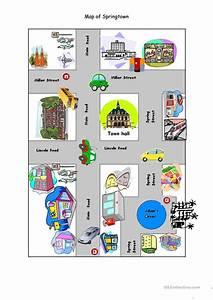 Map Of Springtown Worksheet