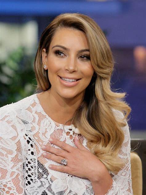 kim kardashians engagement ring kanye west honors north