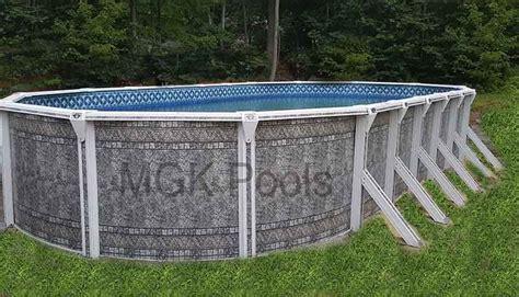 15 X 30 Pool  Aluminum Dauntless Oval Swimming Pool Package
