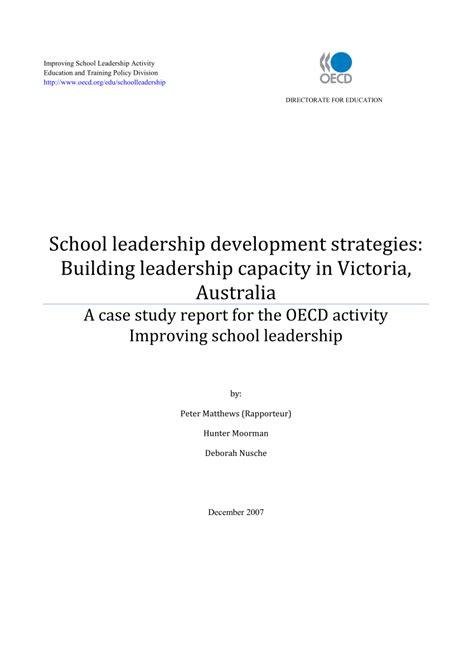school leadership development strategies building