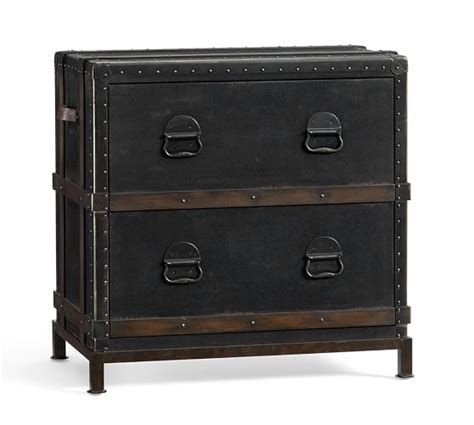 pottery barn file cabinet ludlow trunk file cabinet pottery barn