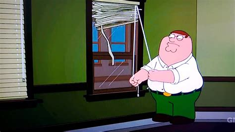 Peter Struggles To Open Blinds