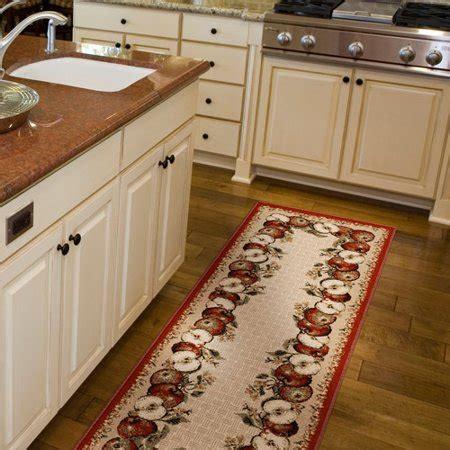 kitchen rugs walmart orian apple border olefin runner rug 1 11 quot x 6 walmart