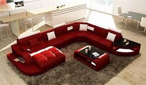 Canapé D Angle Panoramique Alia Xxl : deco in paris canape d angle design panoramique rouge et blanc istanbul pano rouge blanc ~ Teatrodelosmanantiales.com Idées de Décoration