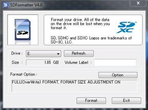 sd card formatter  windows