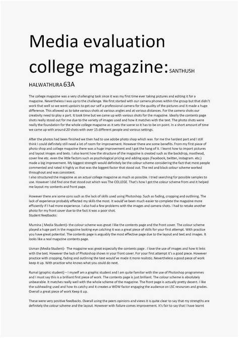 evaluation essay  article critique  avant