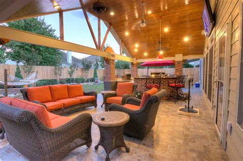 Patio And Outdoor by Gable Roof Patio Cover And Outdoor Kitchen Hhi Patio Covers