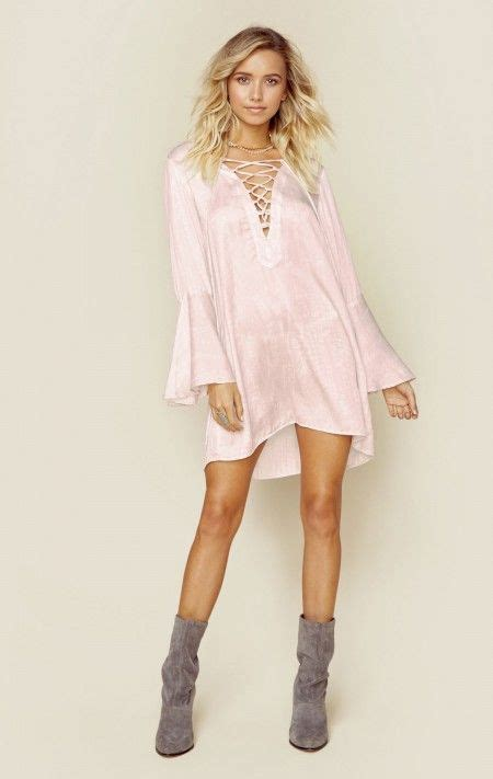 blue new bohemian clothes lace up tunic dress