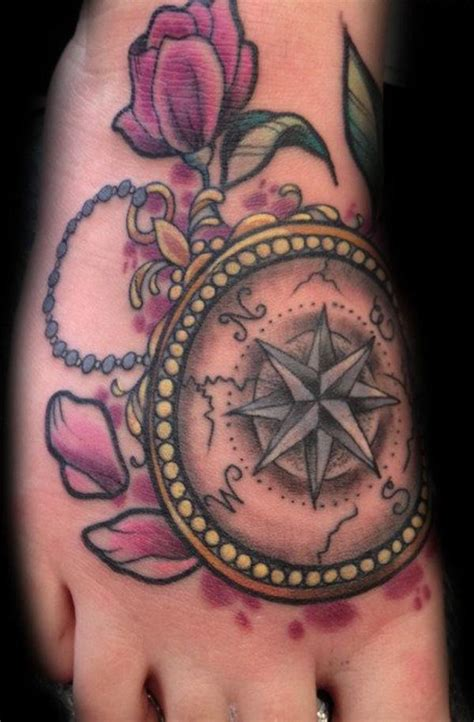 amazing compass tattoos traditional compass