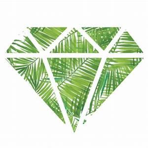 diamond, green, tumblr, palm tree leaves - image #3236641 ...