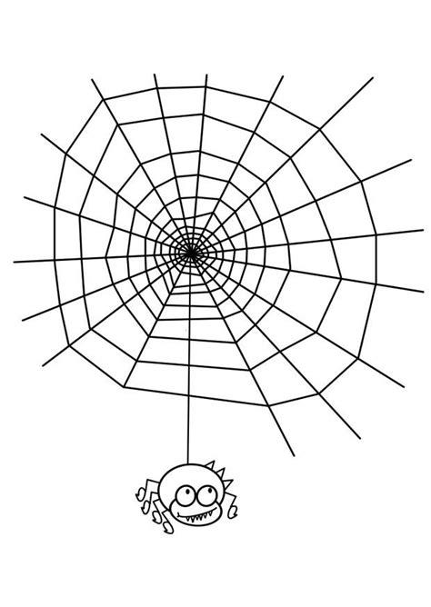 kleurplaat spinnenweb met spin afb  images