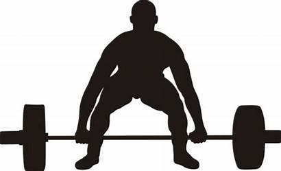 Lifting Clip Clipart Silhouette Weight Lift Dead