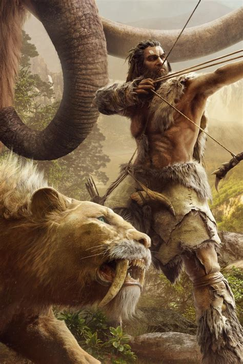 wallpaper mammoth sabretooth tiger  cry primal
