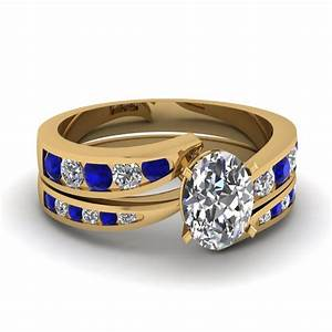 blue diamond wedding ring sets wedding ring styles With blue wedding ring