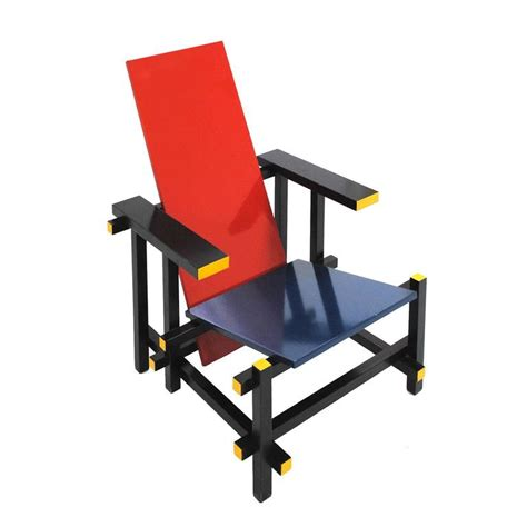 and blue 365 chair by gerrit rietveld for