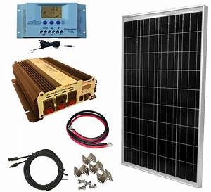 Complete 100 Watt Solar Panel Kit with 1500W VertaMax ...