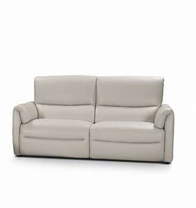 biaggio italian light gray leather reclining modern sofa With modern reclining sofa