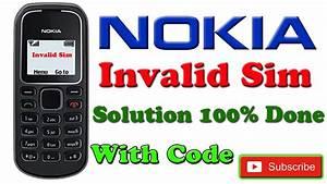 Nokia 1280 Invalid Sim Solution Sim Register Failed 100