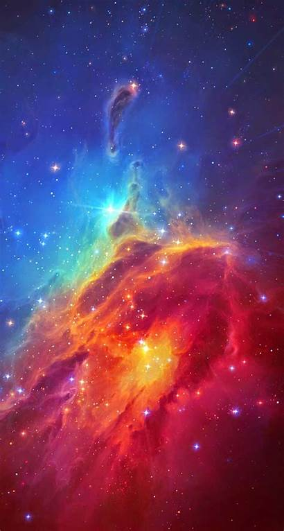 Space Nebula Colorful Iphone Stunning Plus Wallpapers