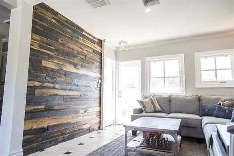 Wall Cover : Porter Barn Wood-/ Speckled Black Wood Wall Covering
