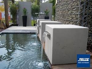 Wasserbecken Aus Beton : garten wasserfall leichtbeton kubus gropius 45 ~ Michelbontemps.com Haus und Dekorationen
