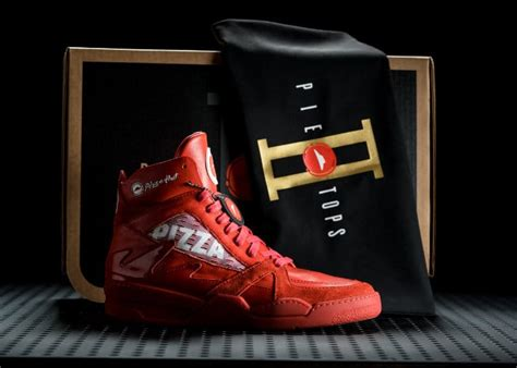 pizza hut pie tops sneakers  order  pizza  pause