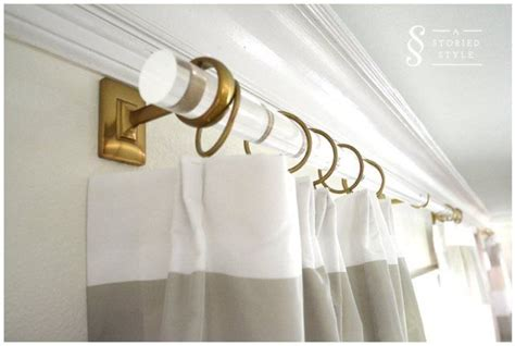 diy quot lucite quot curtain rods for the home