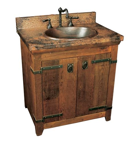 single sink bath vanity  copper top uvntvnb