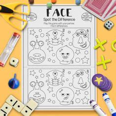 spot  difference images worksheets  kids