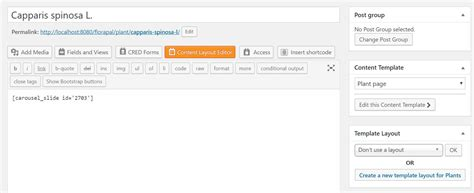 do shortcode not working template carousel slide plugin shortcode in a content template does