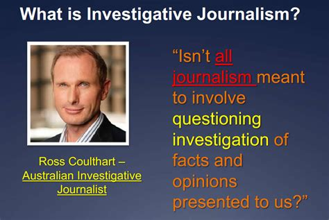 Investigative Journalism by M Gleeson S Jour 1111 Lecture 11 Investigative
