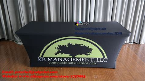 custom table covers with logo free shipping 6ft custom printed spandex table covers